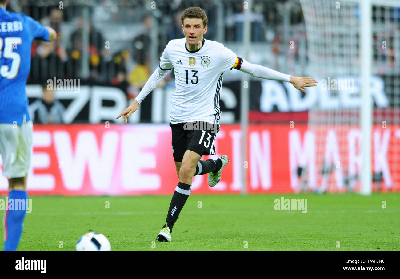 Friendly match at Allianz Arena Munich, Germany vs Italy: Thomas Mueller (GER) - Stock Image