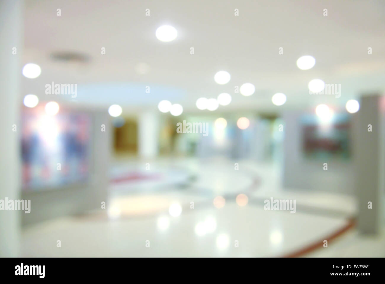Abstract blur background with bokeh of Art gallery or museum