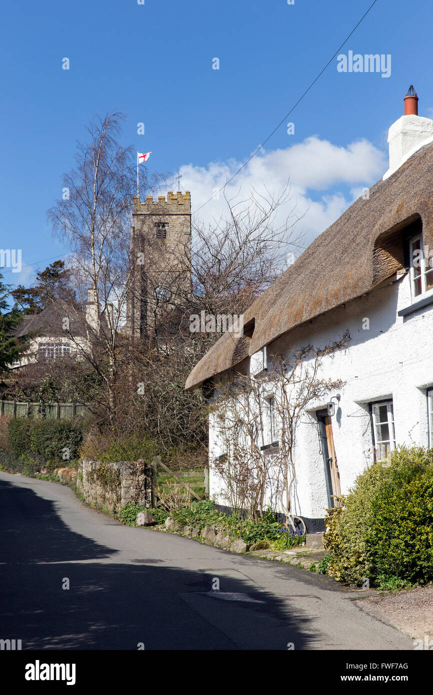 Doone Cottage is a grade II listed building in Dunsford, Devon, british, britain, united kingdom, Devon, destination, - Stock Image