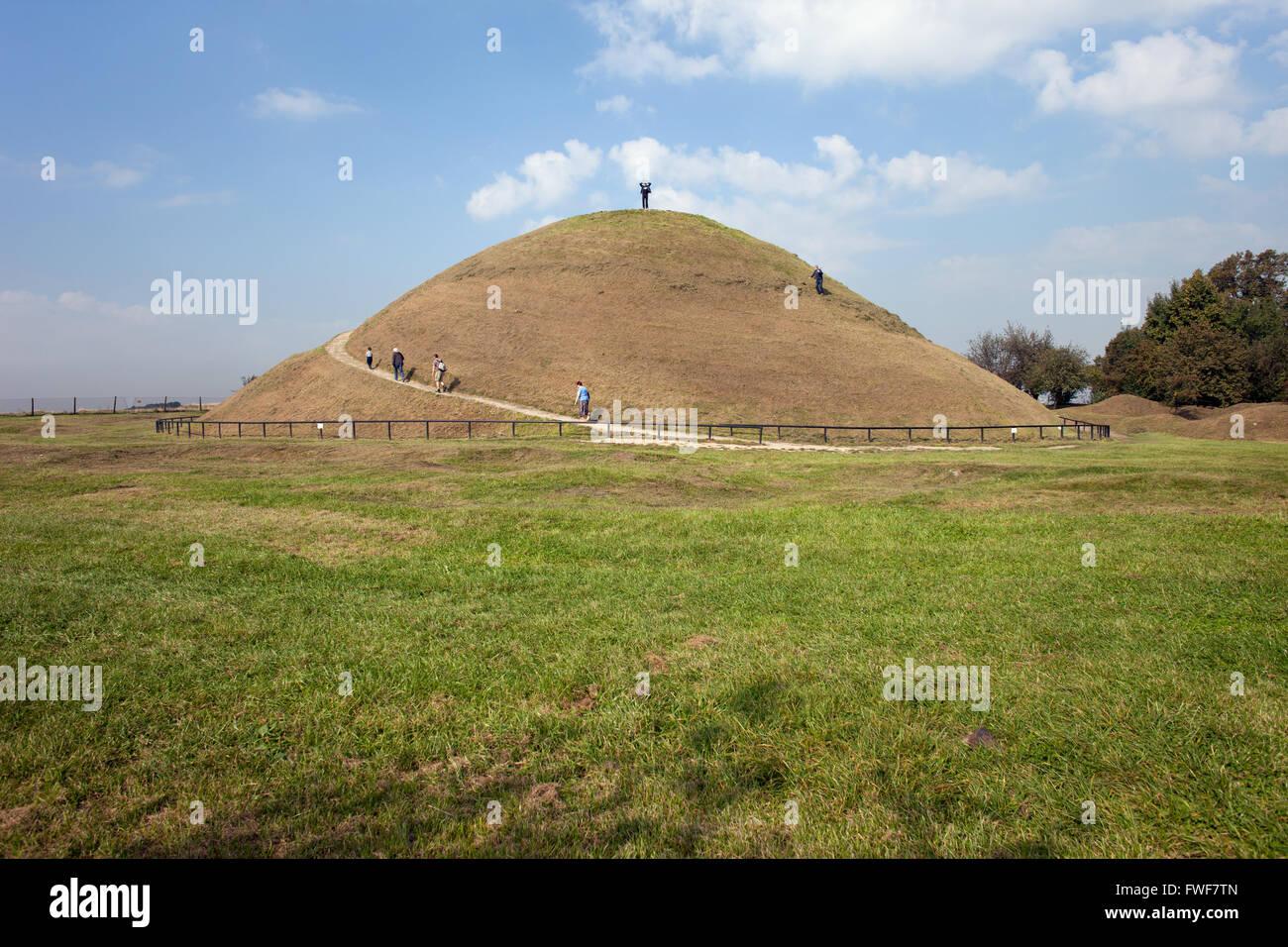 Poland, Krakow, Mound of Krak or Krakus Mound (Kopiec Krakusa, Kraka), an ancient, mysterious prehistoric man-made - Stock Image