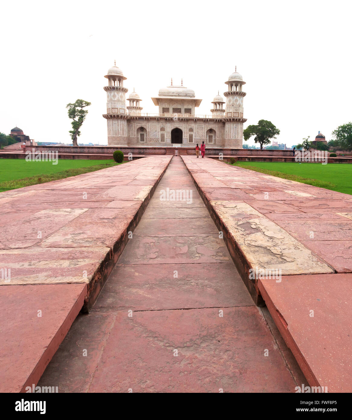 The Baby Taj.  The tomb is the precursor to the Taj Mahal as it was built by Nur Jahan for her father, Mirza Ghiyas Stock Photo