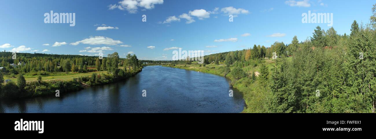 The river Västerdalälven in Sälen, Dalarna, Sweden. - Stock Image