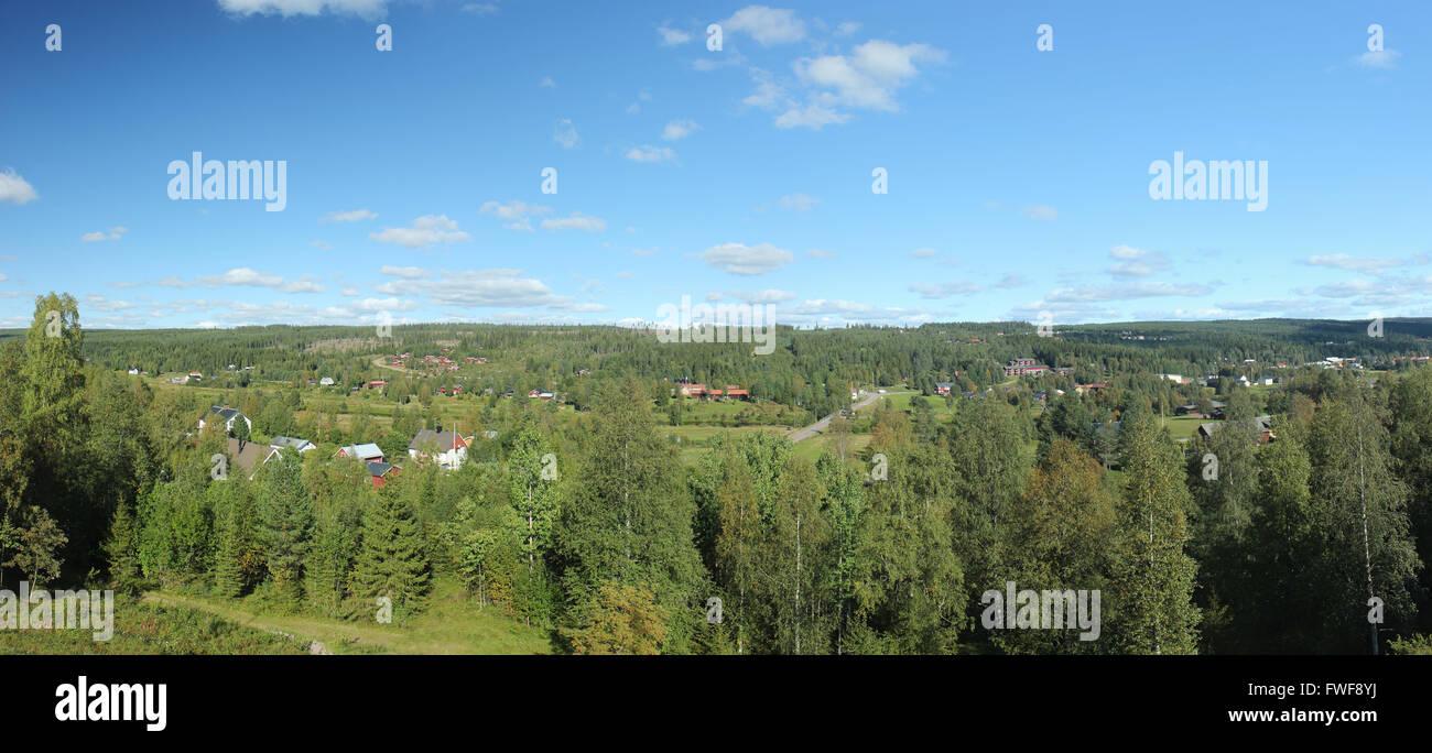 View over Sälen, Dalarna, Sweden. - Stock Image