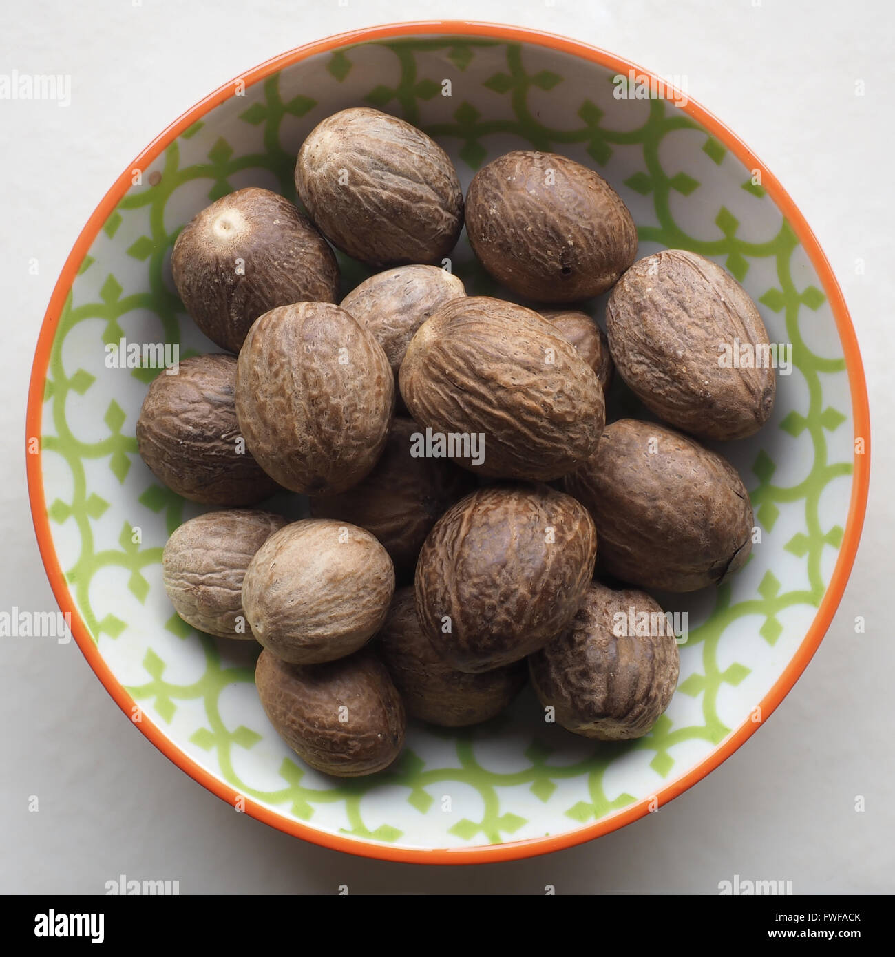 Nutmegs Whole - Stock Image