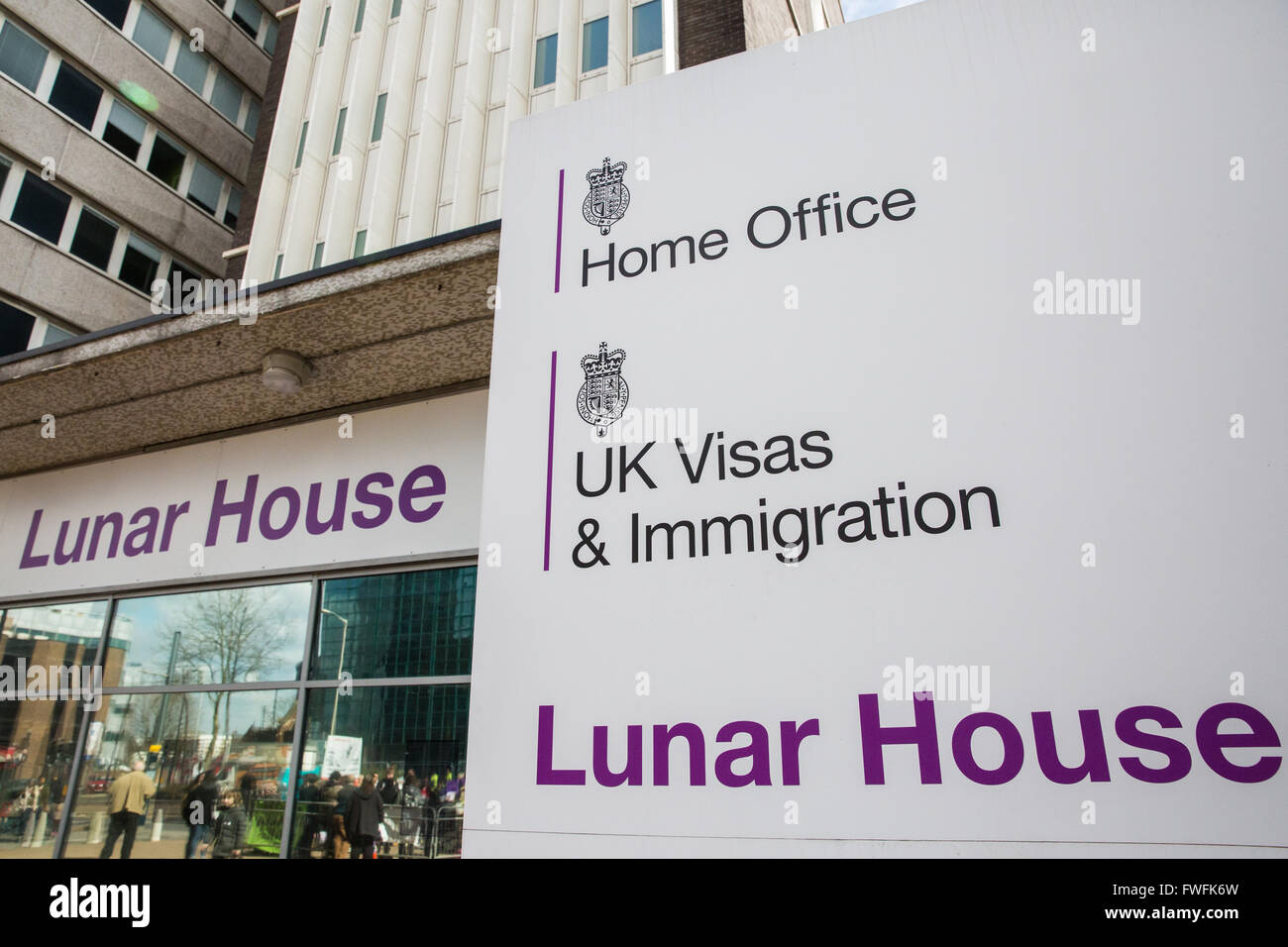 Croydon, UK. 5th April, 2016. The Home Office Uk Visas & Immigration Office at Lunar House in Croydon. Credit: - Stock Image