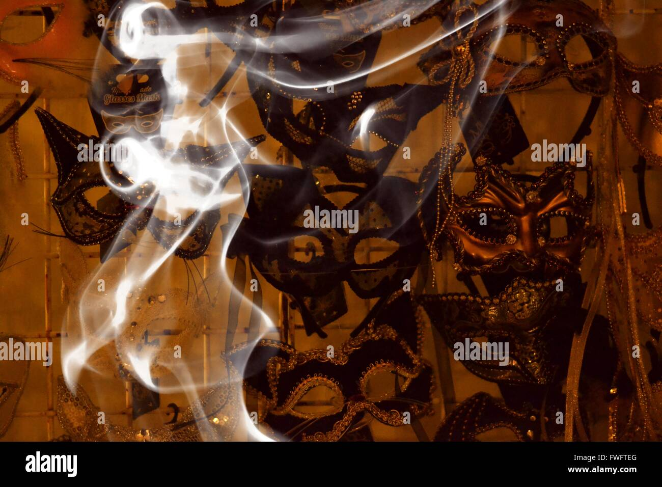Smoky Mask Display. - Stock Image