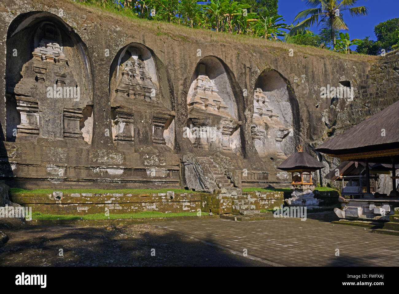 Shrines, Spring temple Pura Gunung Kawi, Bali, Indonesia - Stock Image
