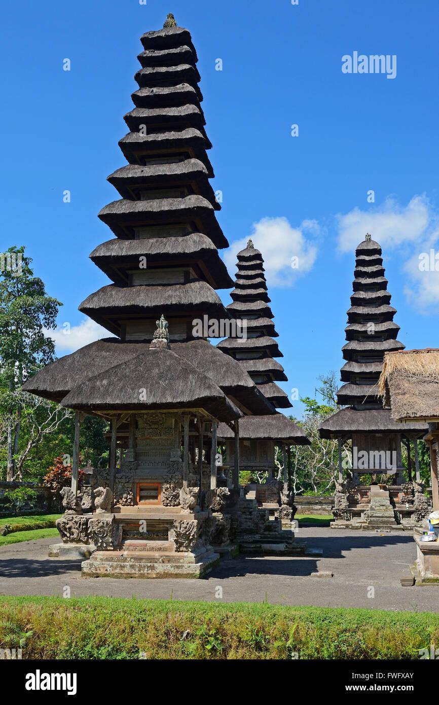 Pagoden und Gebetsplaetze, Pura-Taman-Ayun-Tempel, Balis zweitwichtigster Tempel, nationales Heiligtum, Bali, Indonesien Stock Photo