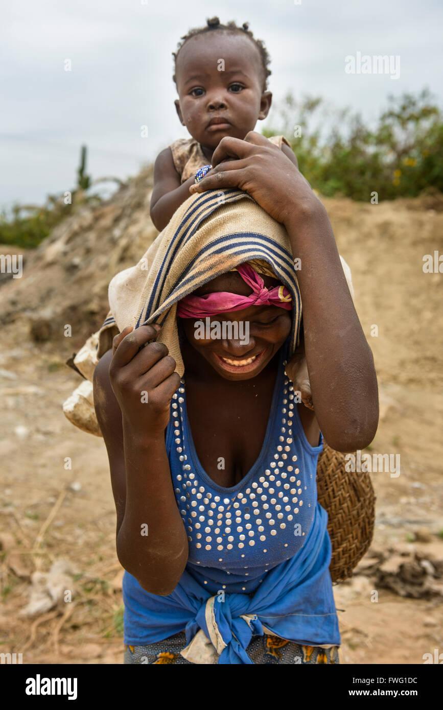 Menschen aus der Demokratischen Republik Kongo - Stock Image