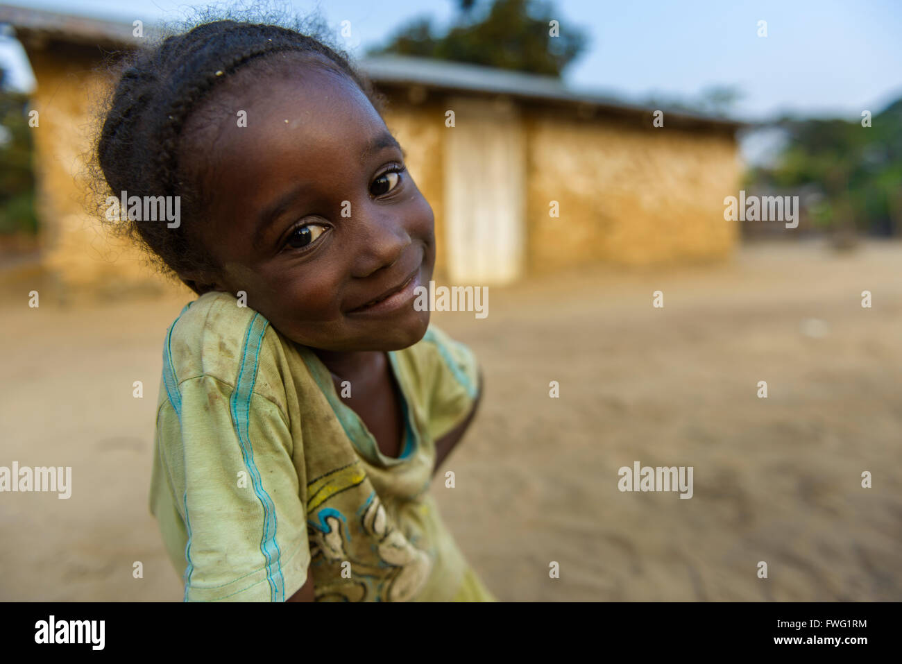 Girl Democratic Republic of Congo - Stock Image