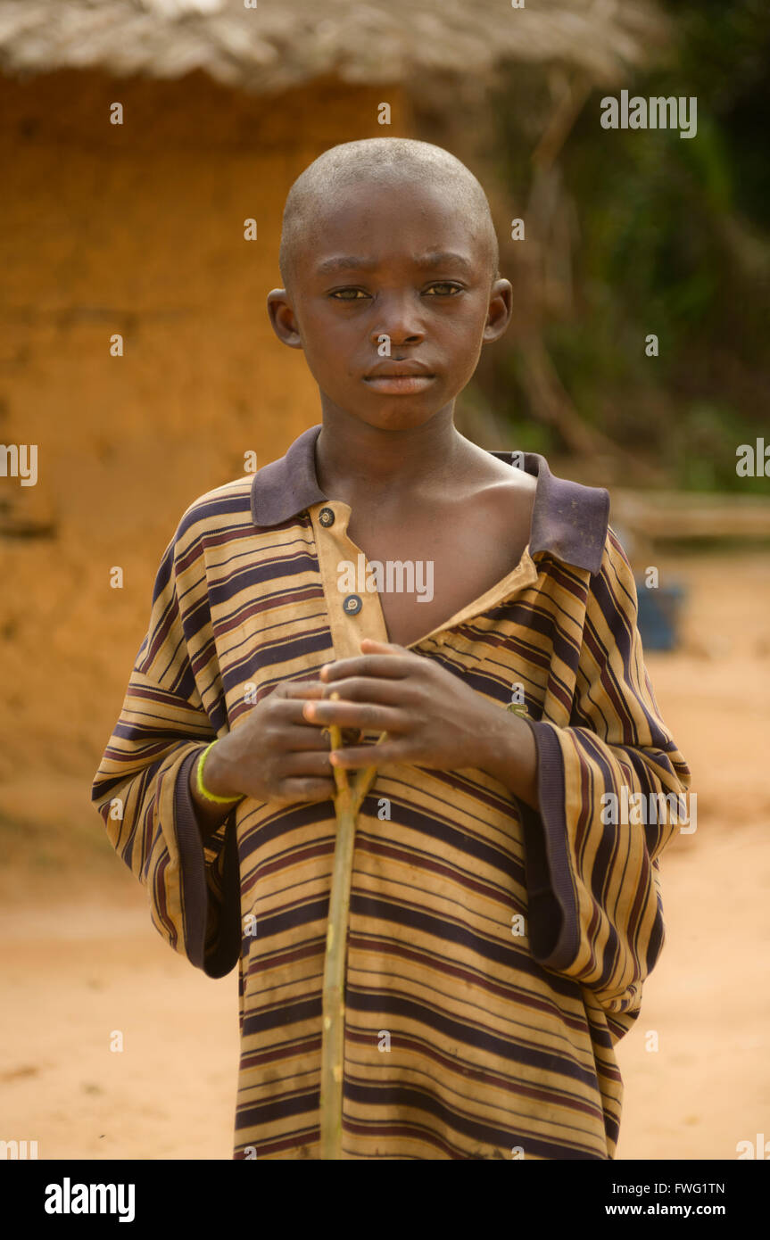 Boy from Democratic Republic of Congo - Stock Image