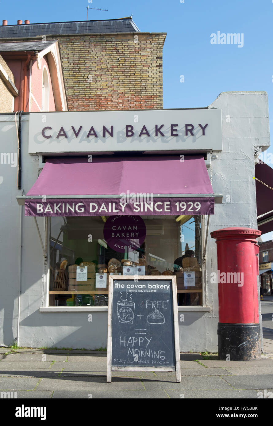 exterior of the cavan bakery, established 1929, hampton hill, middlesex, england - Stock Image