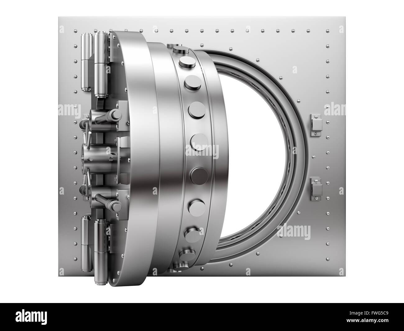 open vault door - Stock Image