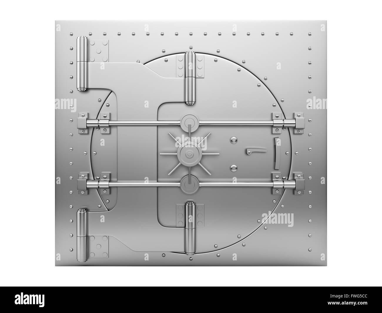 closed vault door - Stock Image