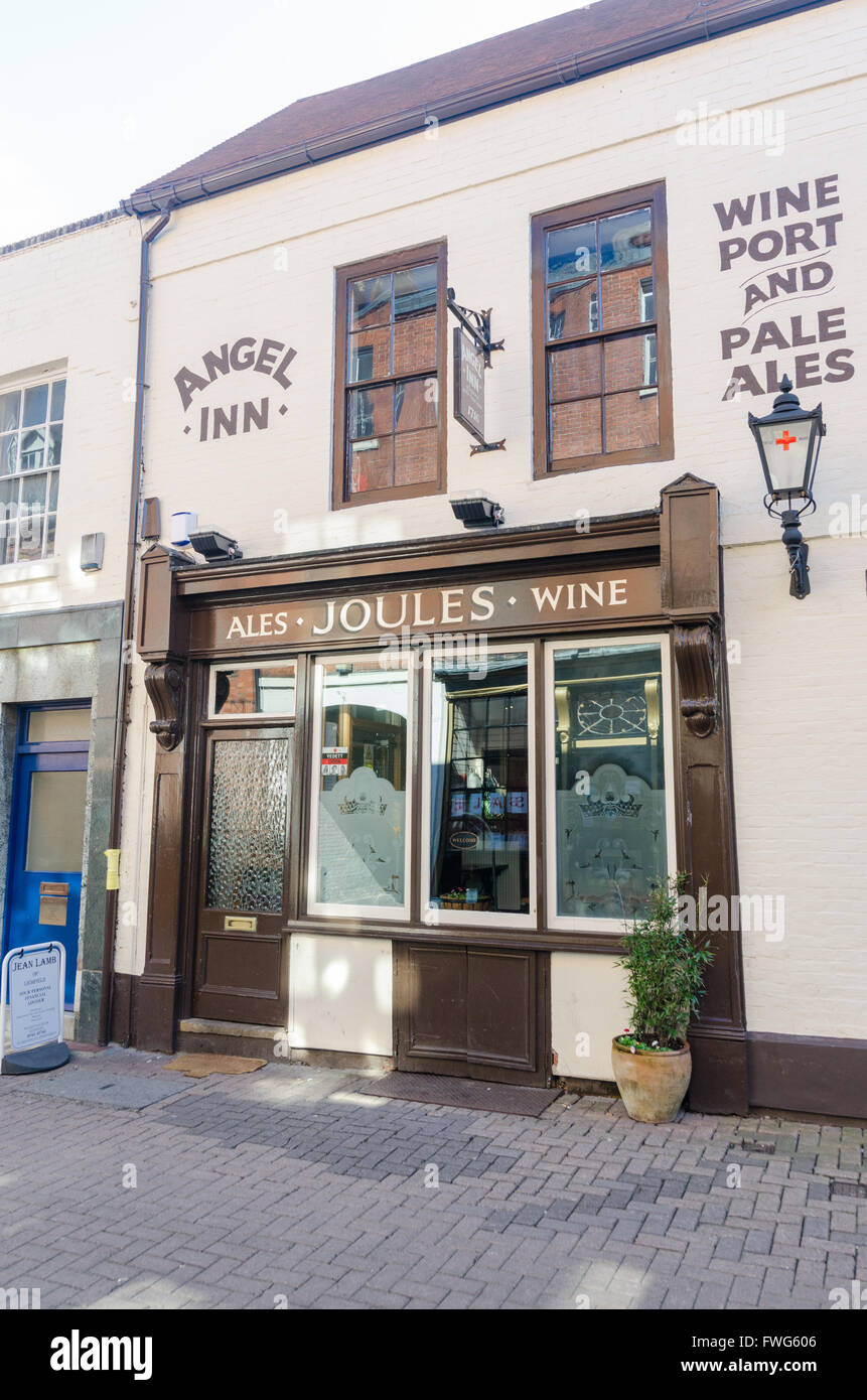 Angel Inn traditional pub in Market Street, Lichfield, Staffordshire - Stock Image
