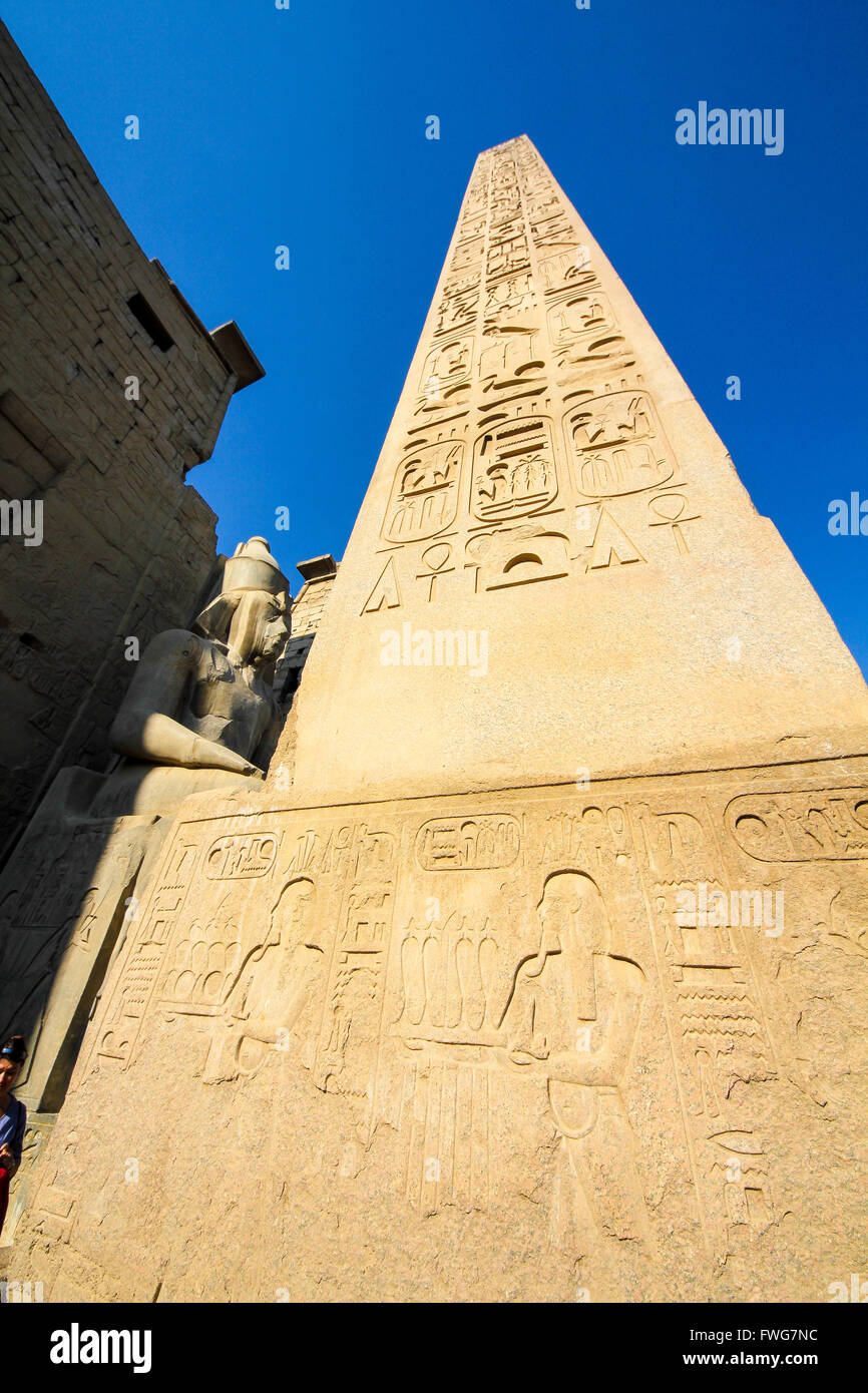 Temple of Luxor, Luxor city, Egypt - Stock Image