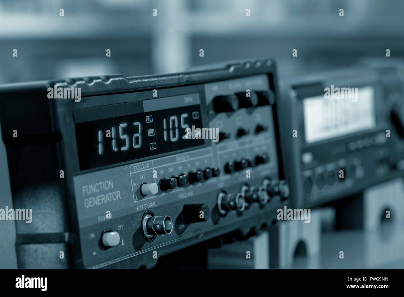 Digital display on an electronic machine. - Stock Image