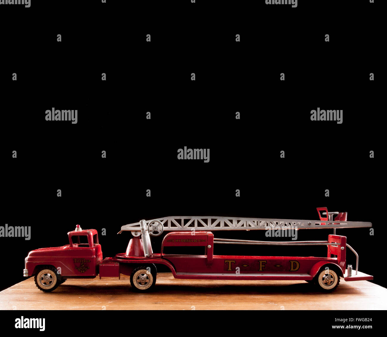 Tonka Fire truck TFD metal toy collectible - Stock Image