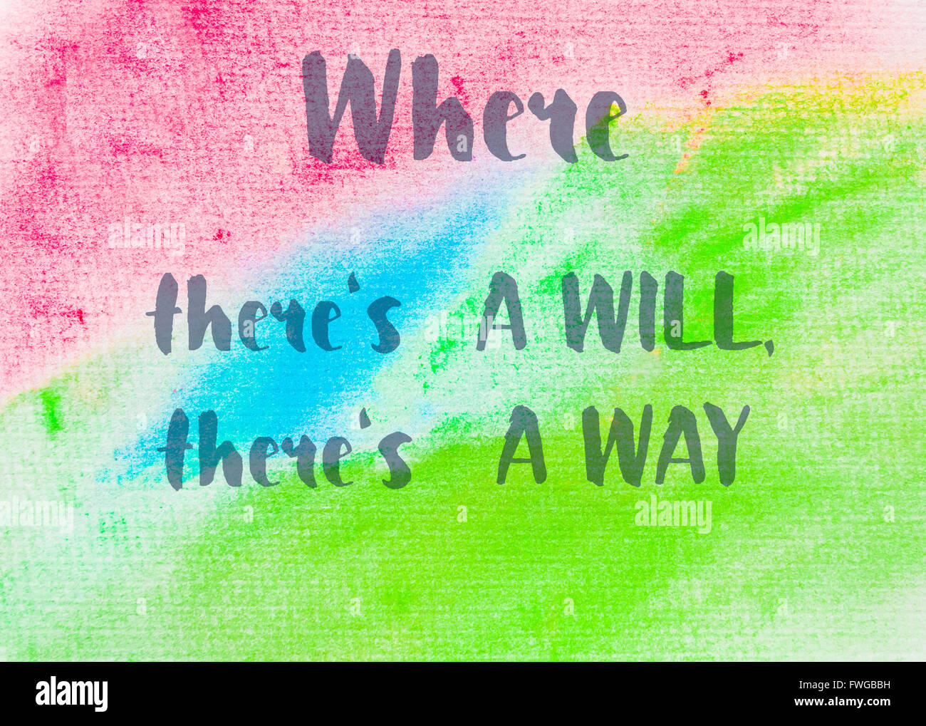 Where Theres A Will Theres A Way Inspirational Quote Over Stock