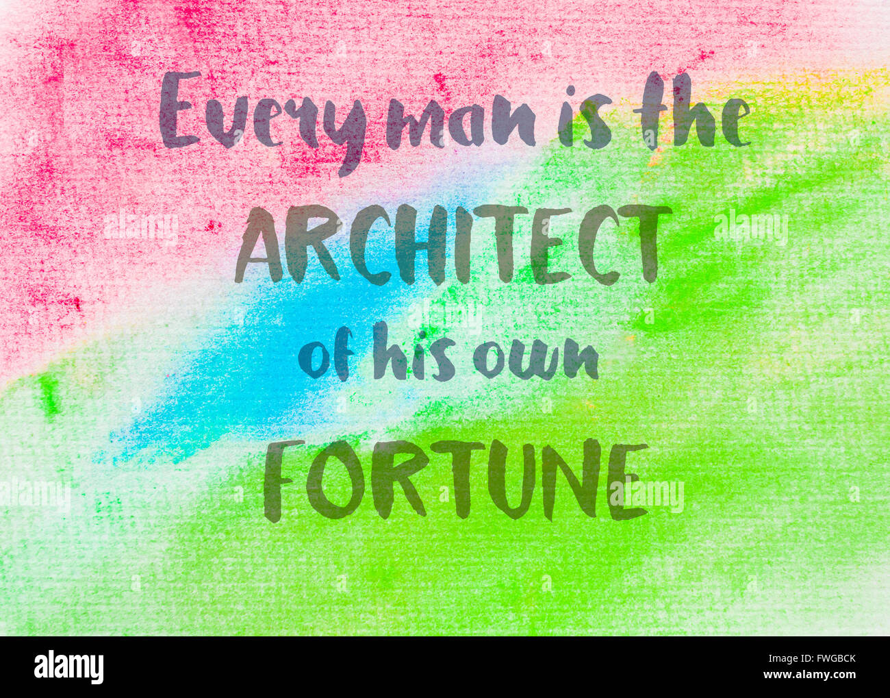 Every Man Is The Architect Of His Own Fortune Inspirational Quote