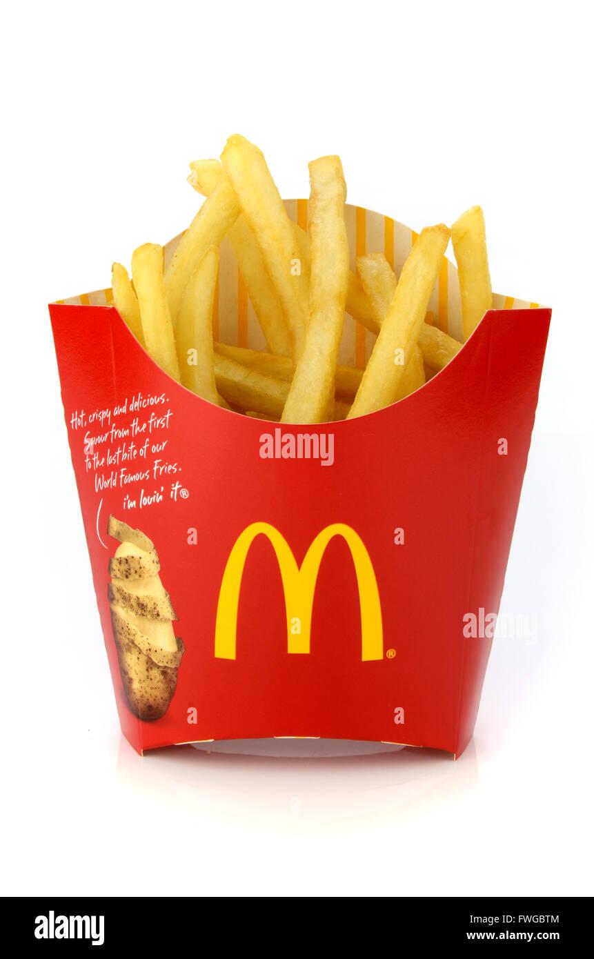 BANGKOK, THAILAND-April 3, 2016: McDonald's snack set. McDonald's Corporation is the world's largest - Stock Image