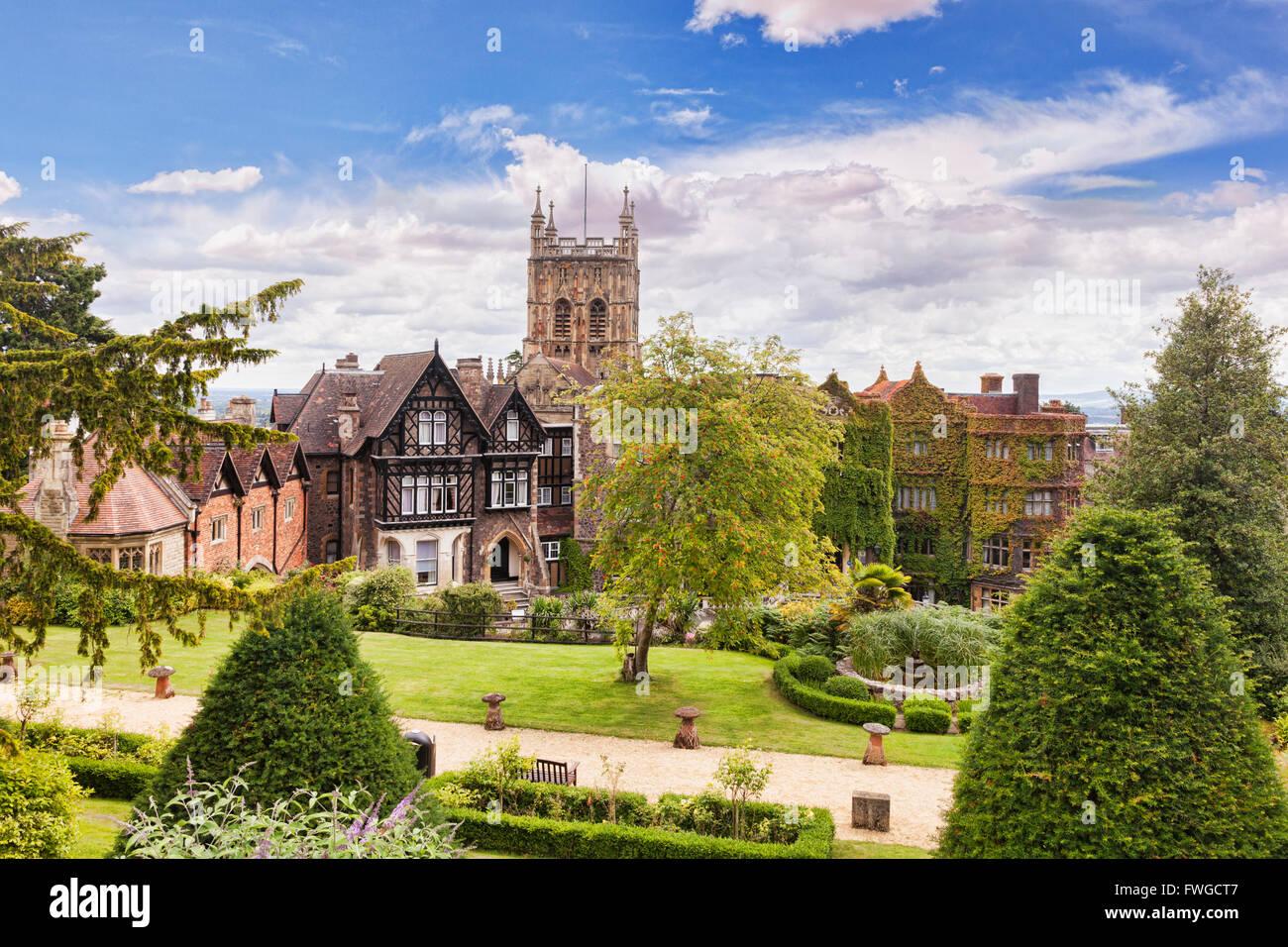 Malvern Priory and Abbey Hotel, Malvern, Worcestershire, England, UK - Stock Image
