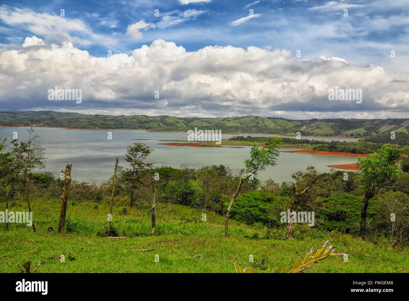 View on Lake Arenal in Costa Rica - Stock Image