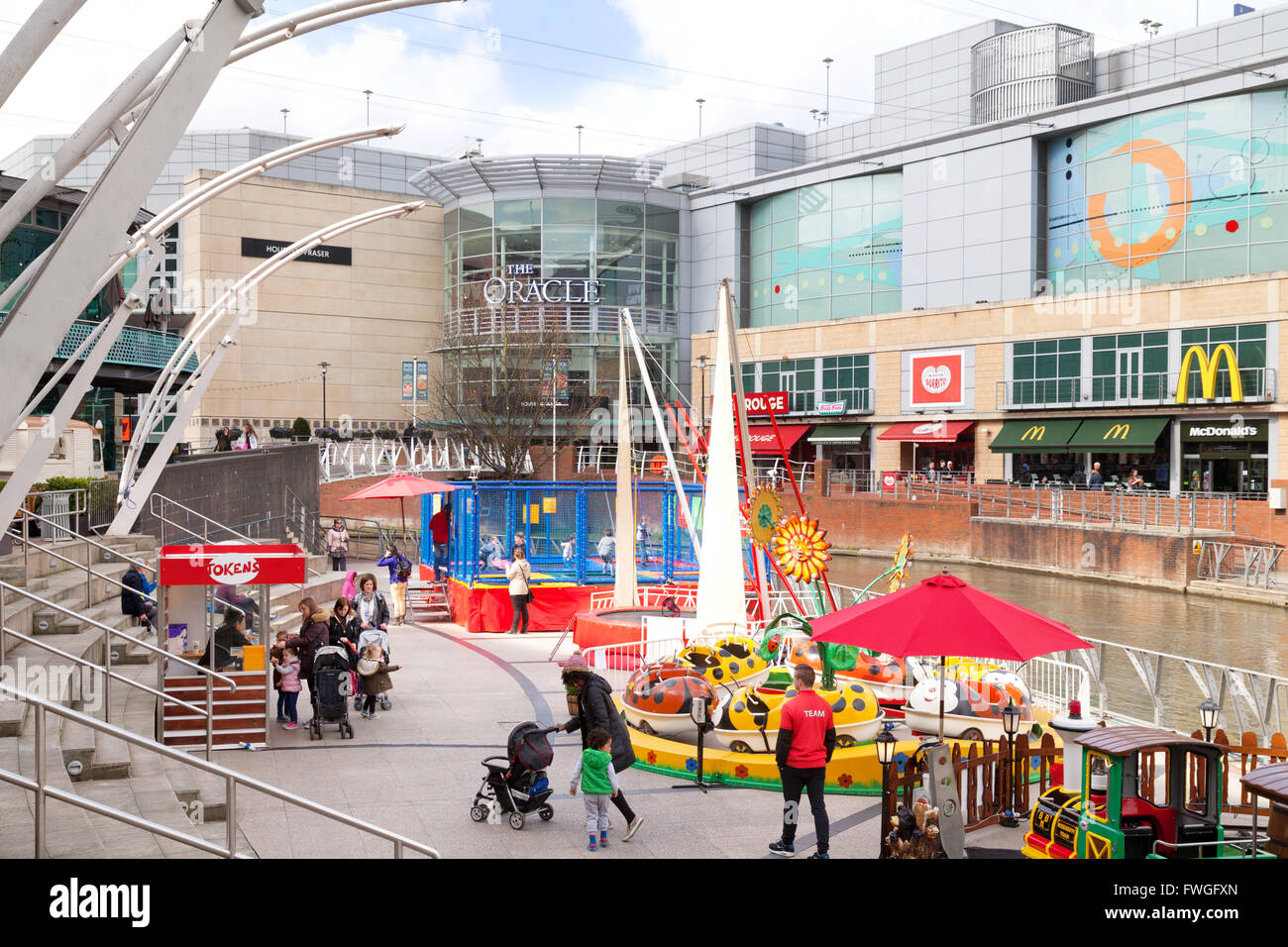 The Oracle Shopping Centre, Reading, Berkshire UK - Stock Image