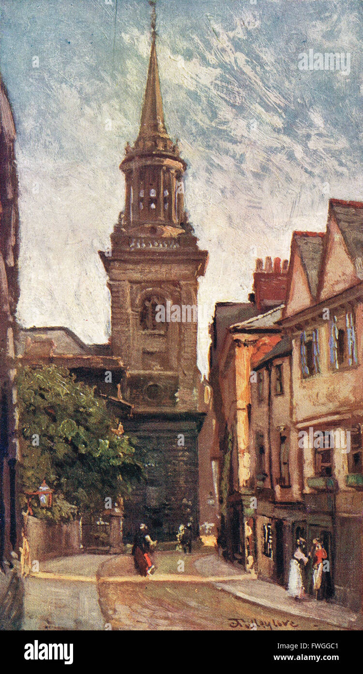 All Saint's Church from Turl St Oxford 1900's - Stock Image
