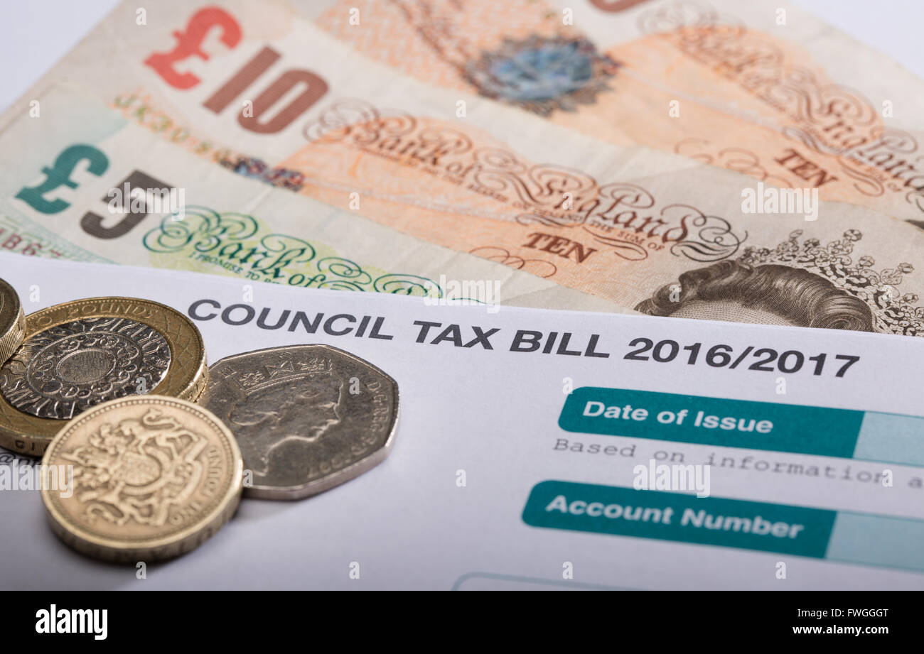 Council Tax bill in the UK for 2016/2017 - Stock Image