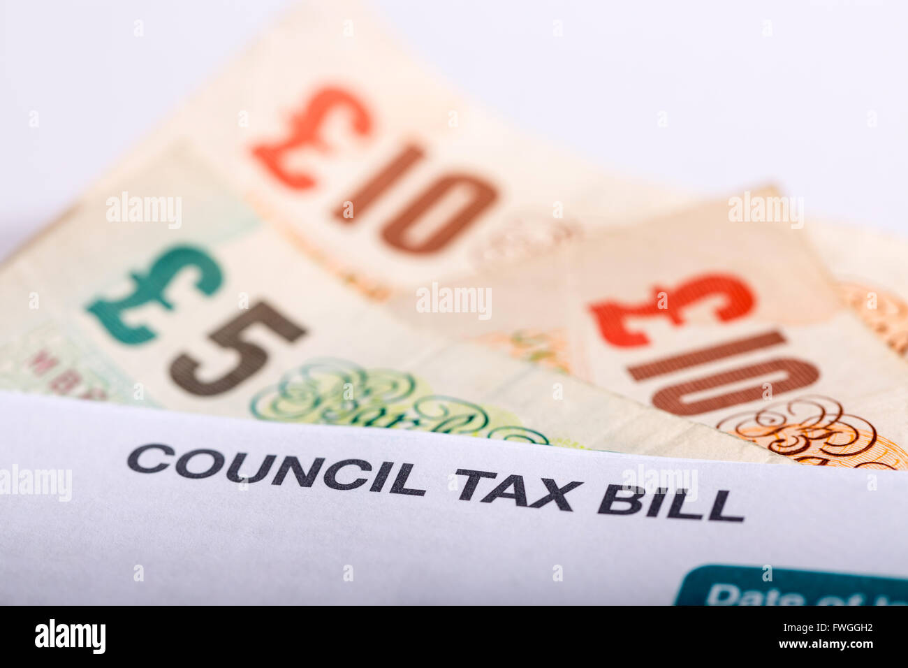 Council Tax bill in the UK - Stock Image