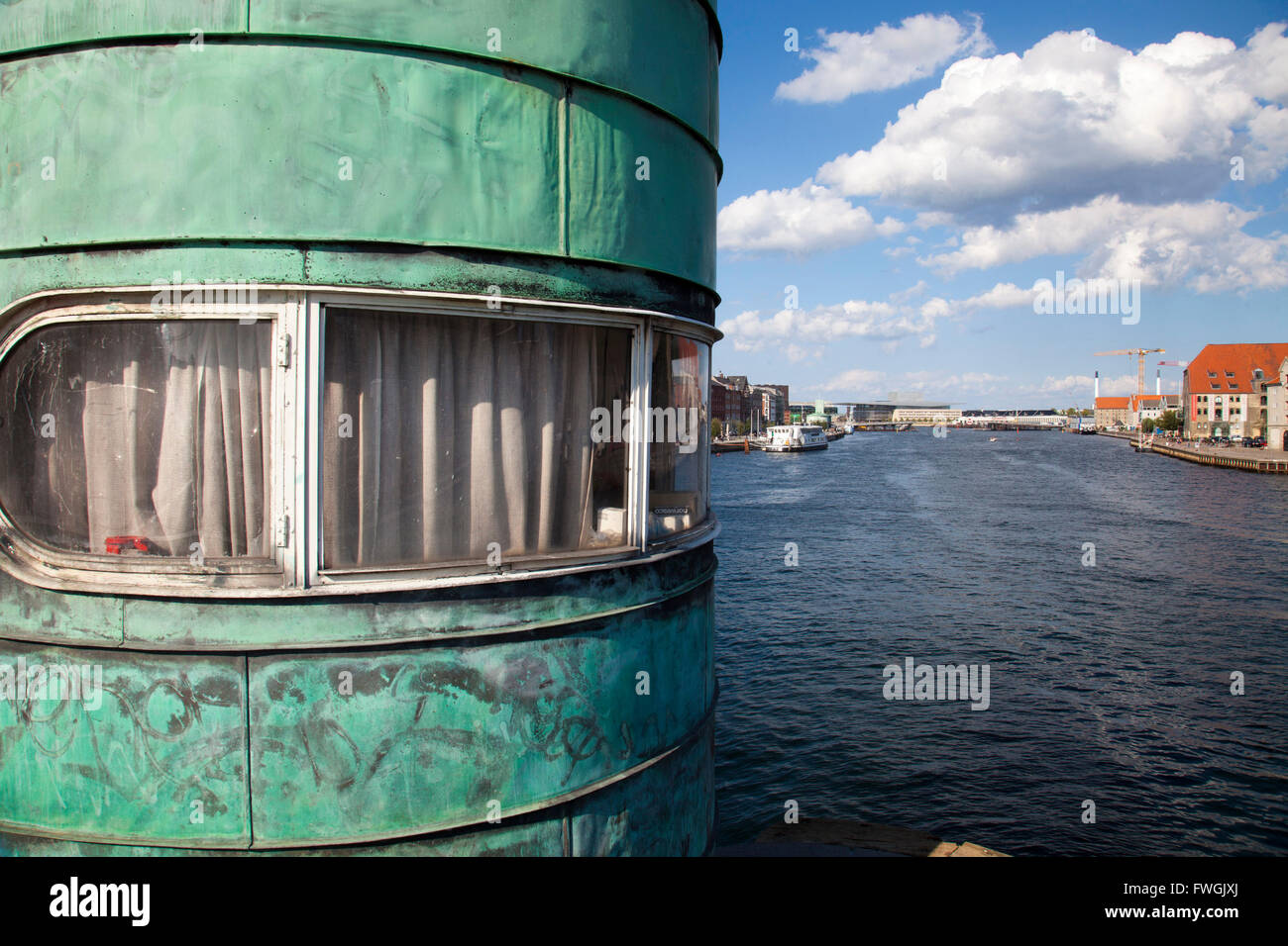 Round Building And River - Stock Image