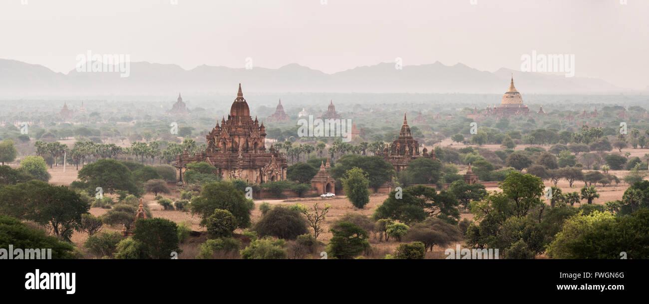 Bagan (Pagan) Buddhist Temples and Ancient City, Myanmar (Burma), Asia - Stock Image
