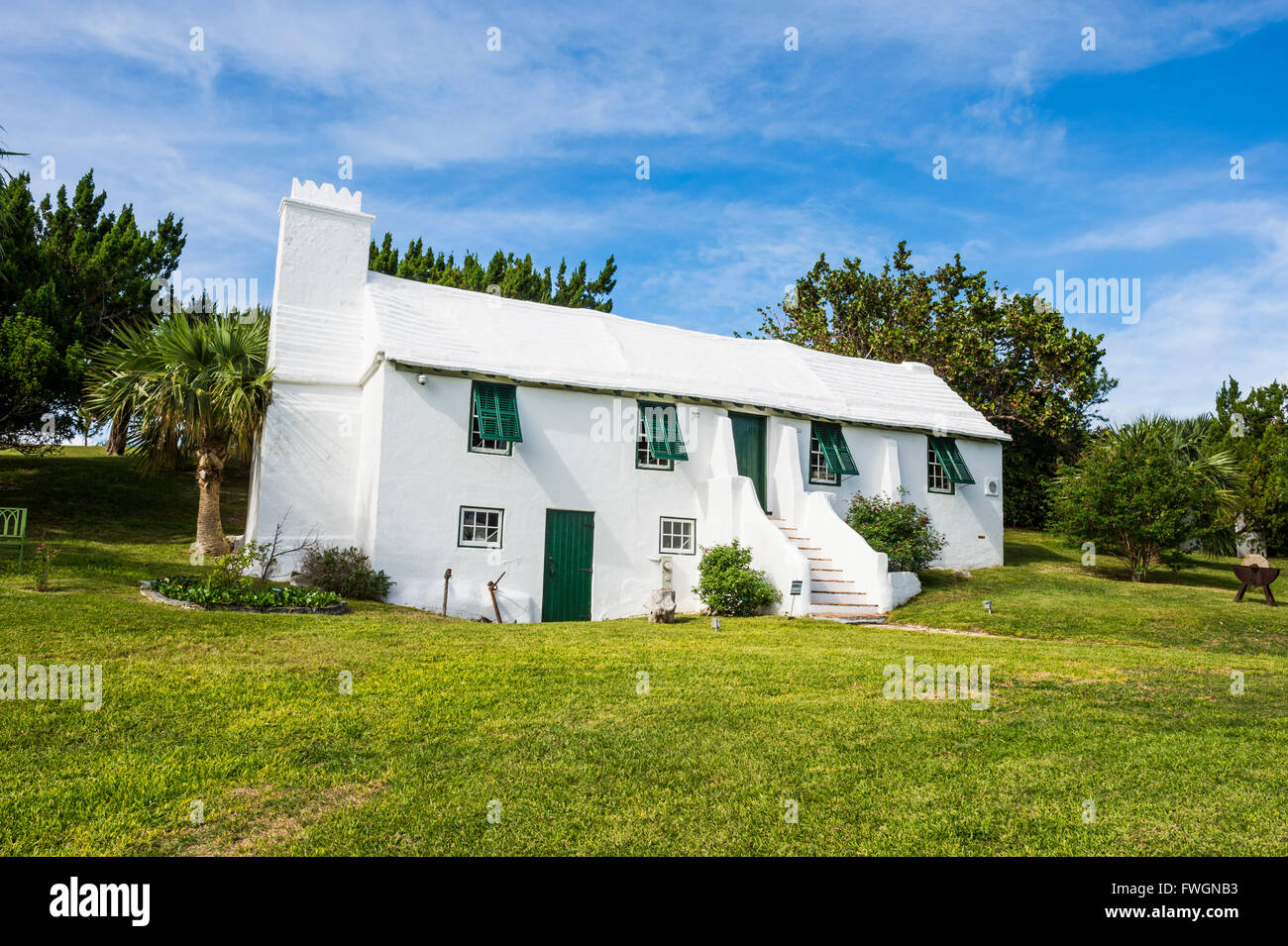 The carter house museum, St. David's island, Bermuda, North America - Stock Image