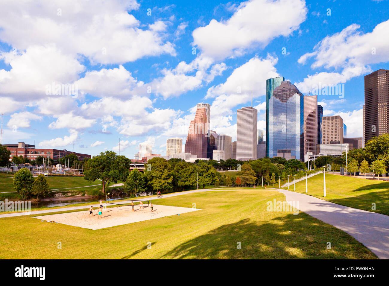 Eleanor Tinsley Park, Houston, Texas, United States of America, North America - Stock Image