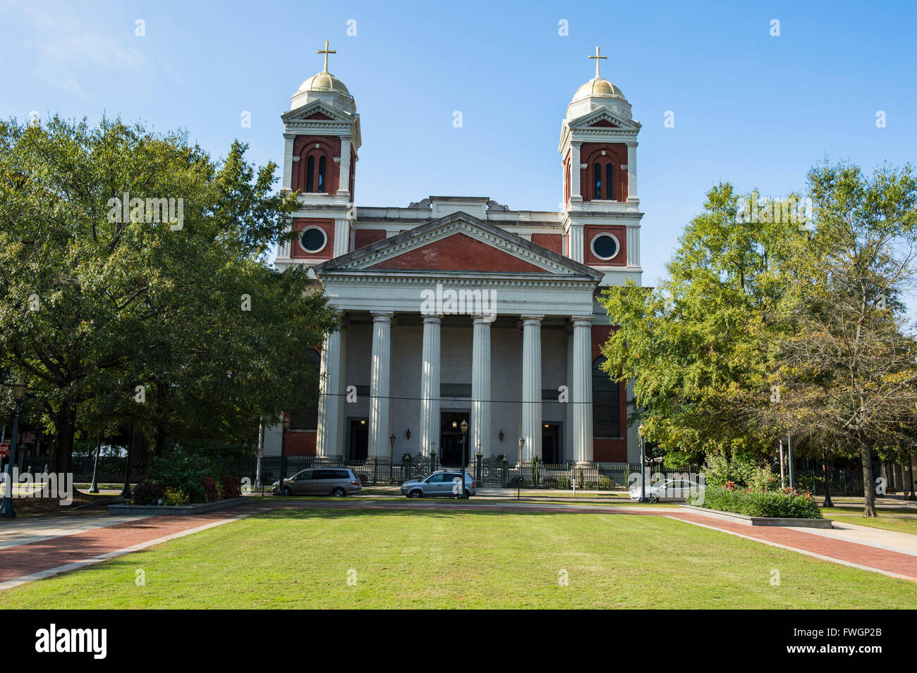 The Cathedral Basilica of the Immaculate Conception, seat of the Archdiocese of Mobile, Alabama, United States of - Stock Image