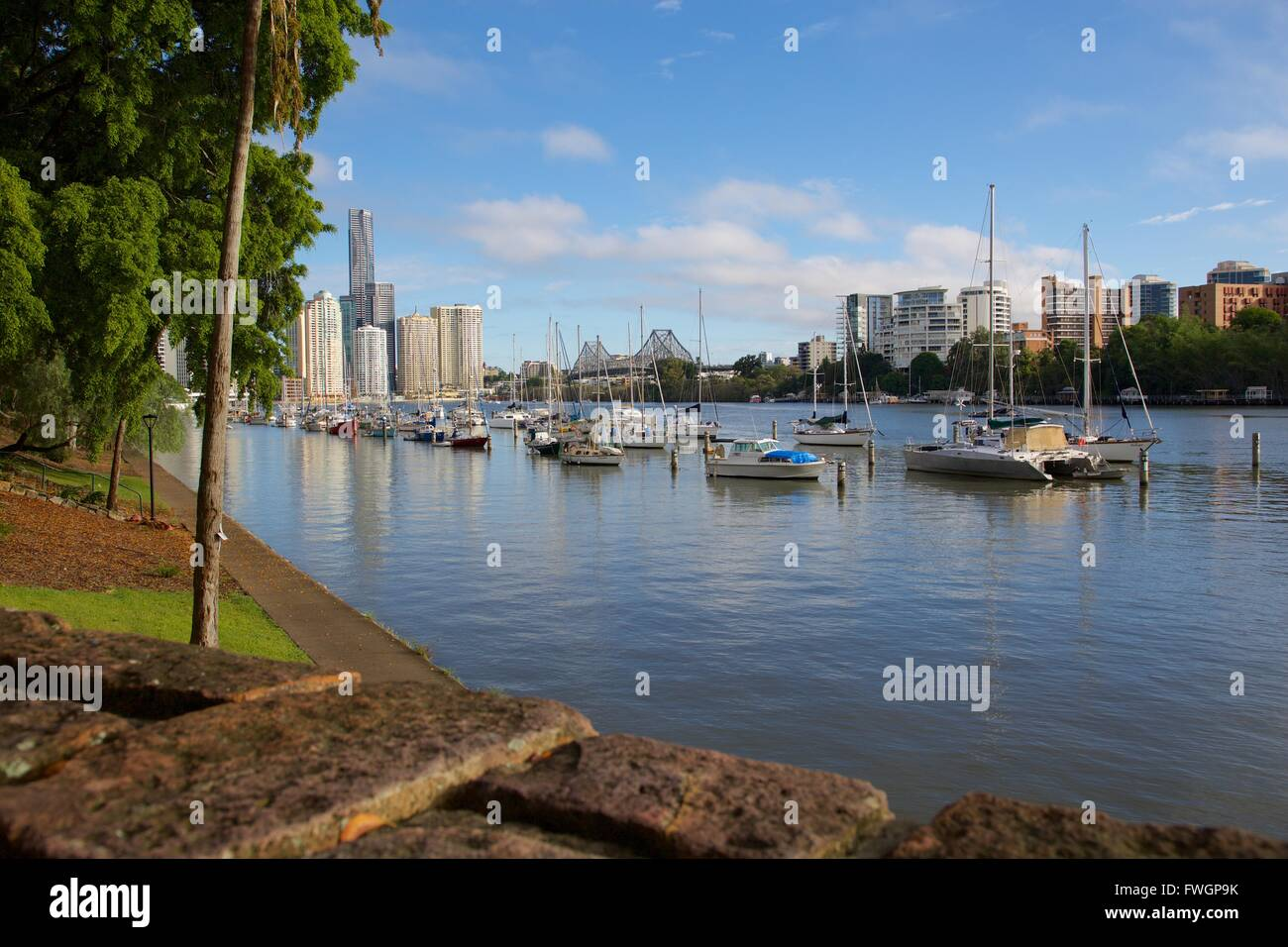 Brisbane River and Story Bridge, Brisbane, Queensland, Australia, Oceania - Stock Image