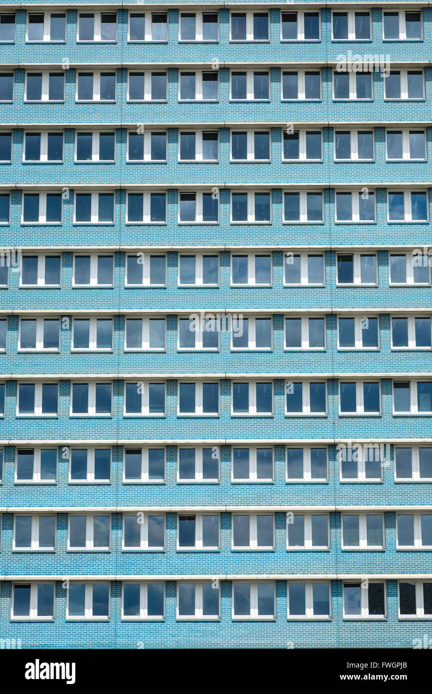 Stalinist architecture of apartment building on Karl Marx Allee, Friedrichshain, Berlin, Germany, Europe Stock Photo
