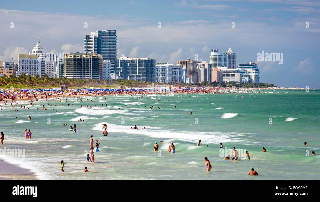 South Beach, Miami Beach, Gold Coast, Miami, Florida, United States of America, North America - Stock Image