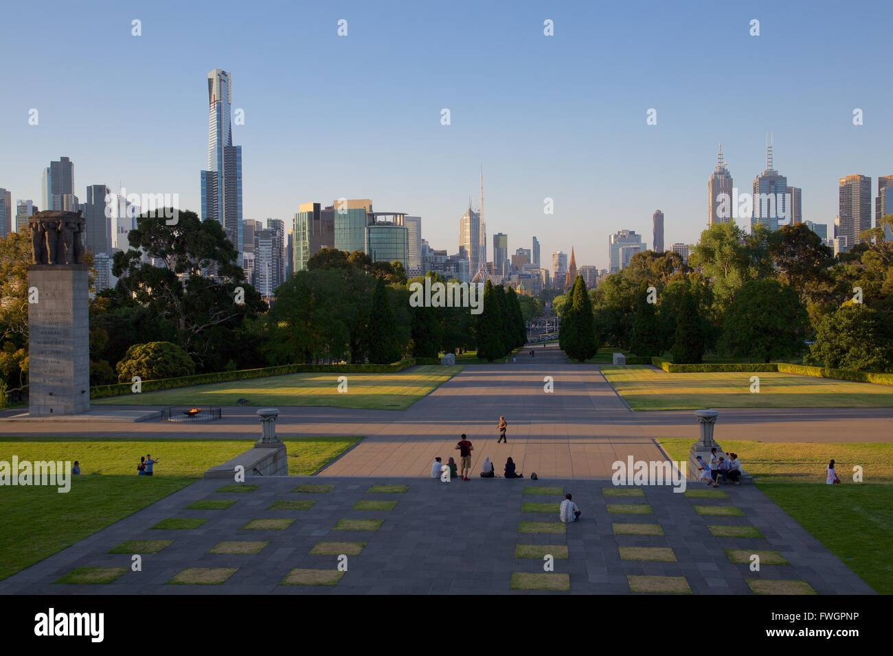 View from Shrine of Remembrance, Melbourne, Victoria, Australia, Pacific - Stock Image