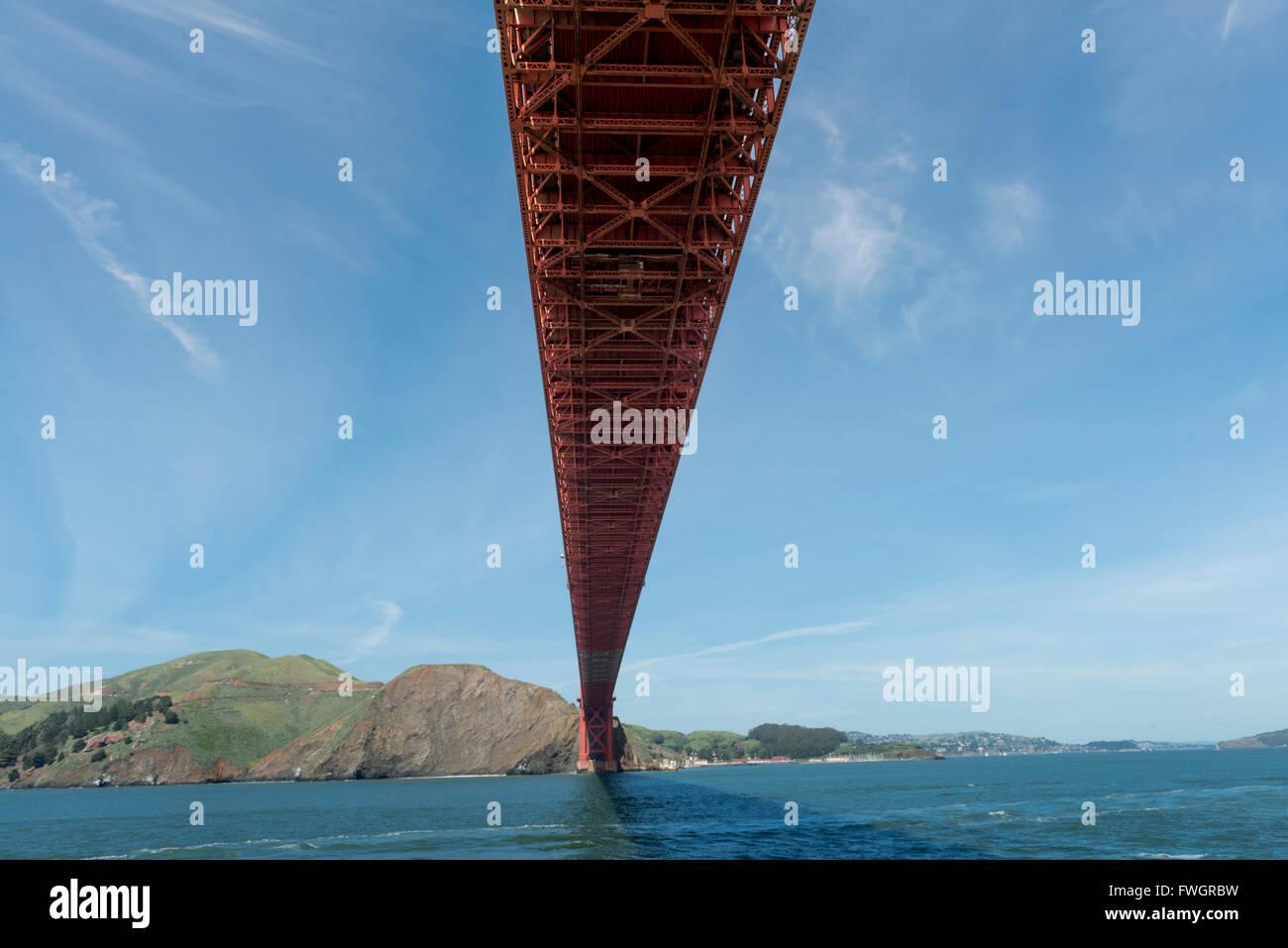 The Golden Gate Bridge, San Francisco Bay, California, USA - Stock Image