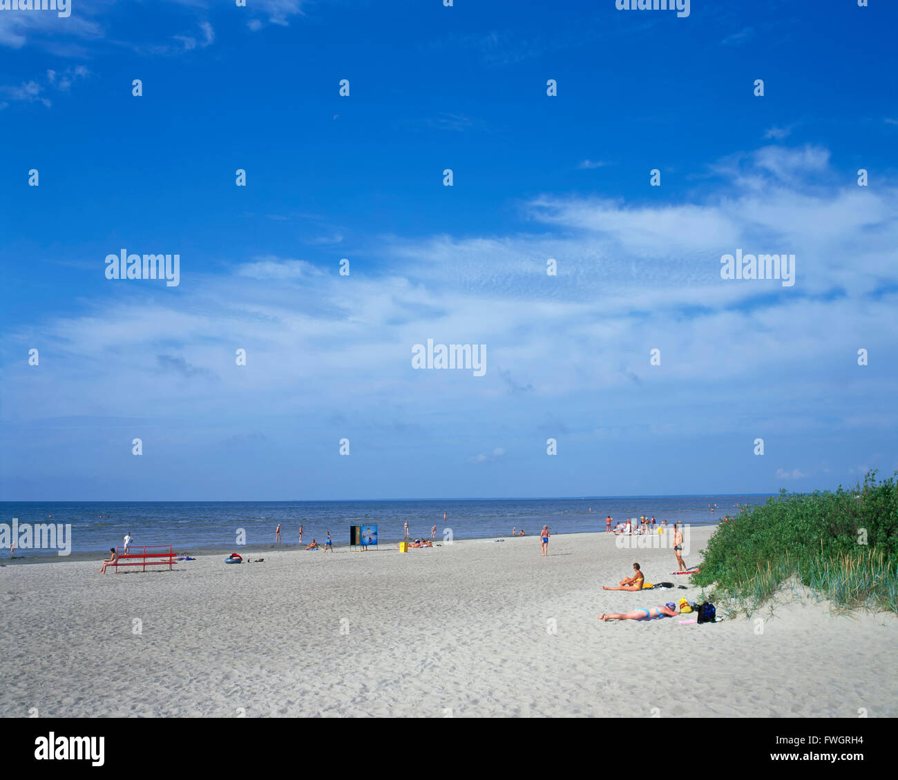 Päru beach, Estonia, Europe - Stock Image
