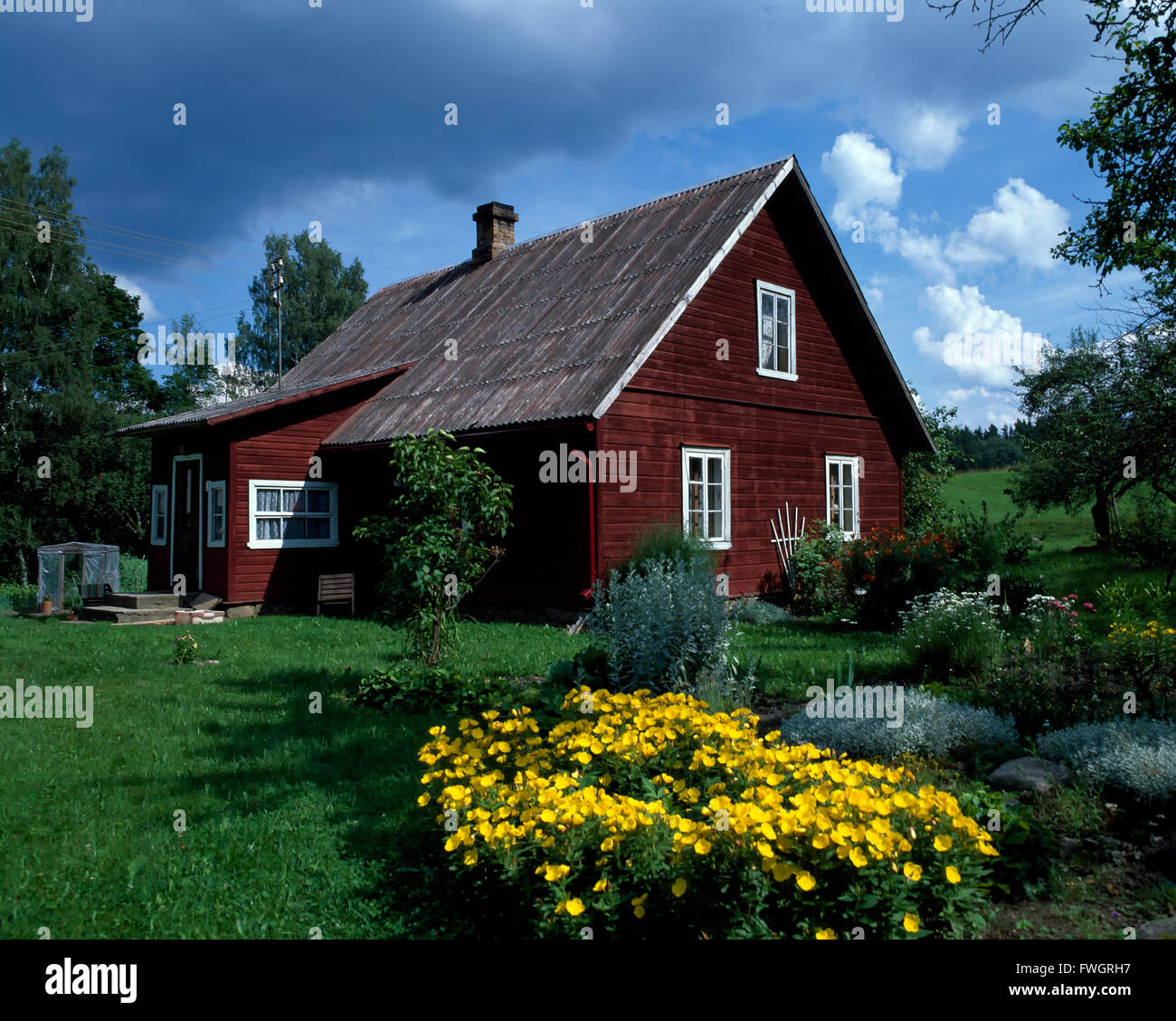 House in Haanjamaa Naturpark, Estonia, Europe - Stock Image