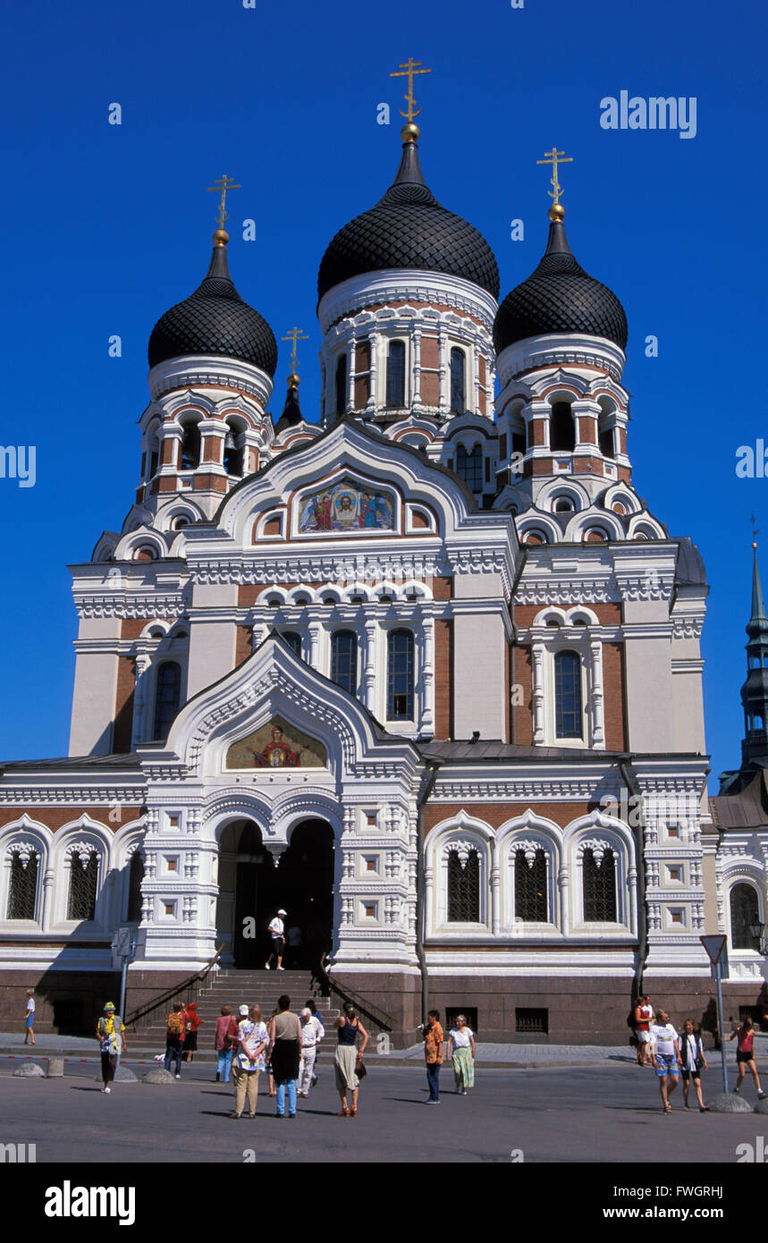 Alexander-Nevski-Cathedral on Toopmea hill, Tallinn, Estonia, Europe Stock Photo