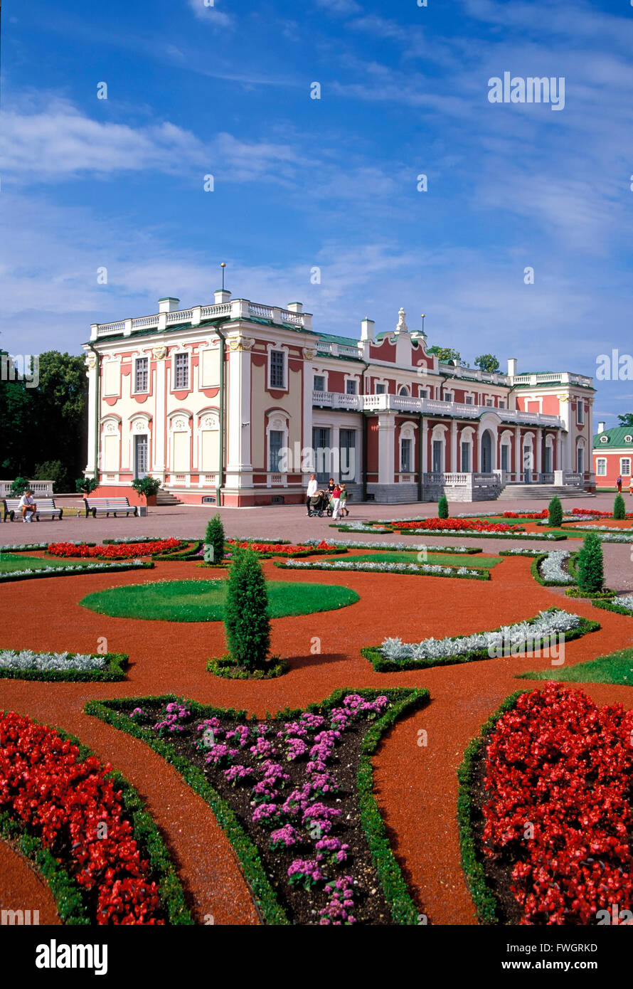 Kadriorg castle, Tallinn, Estonia, Europe - Stock Image
