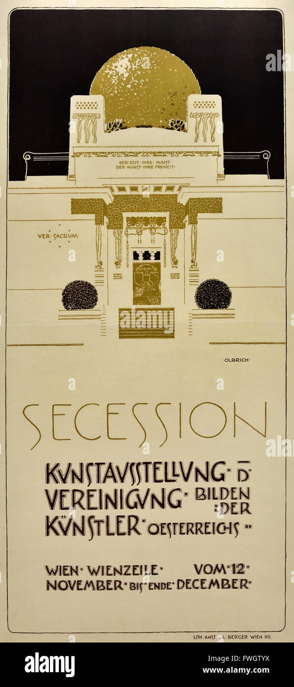 Poster for the second exhibition of the Vienna Secession 1898 Josheph Maria Olbrich 1867-1908 Austrian Austria - Stock Image