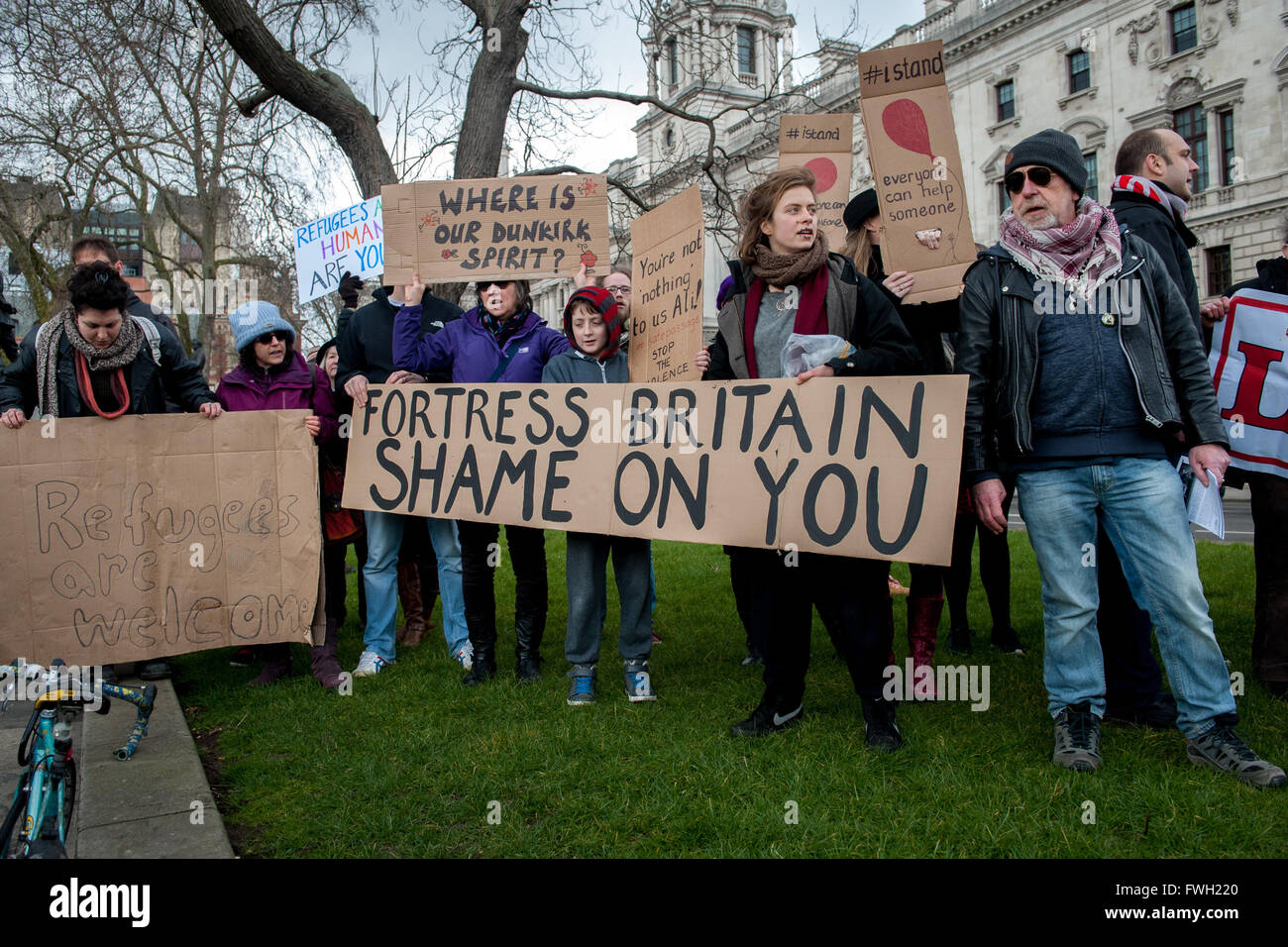 Image result for refugees welcome protesters