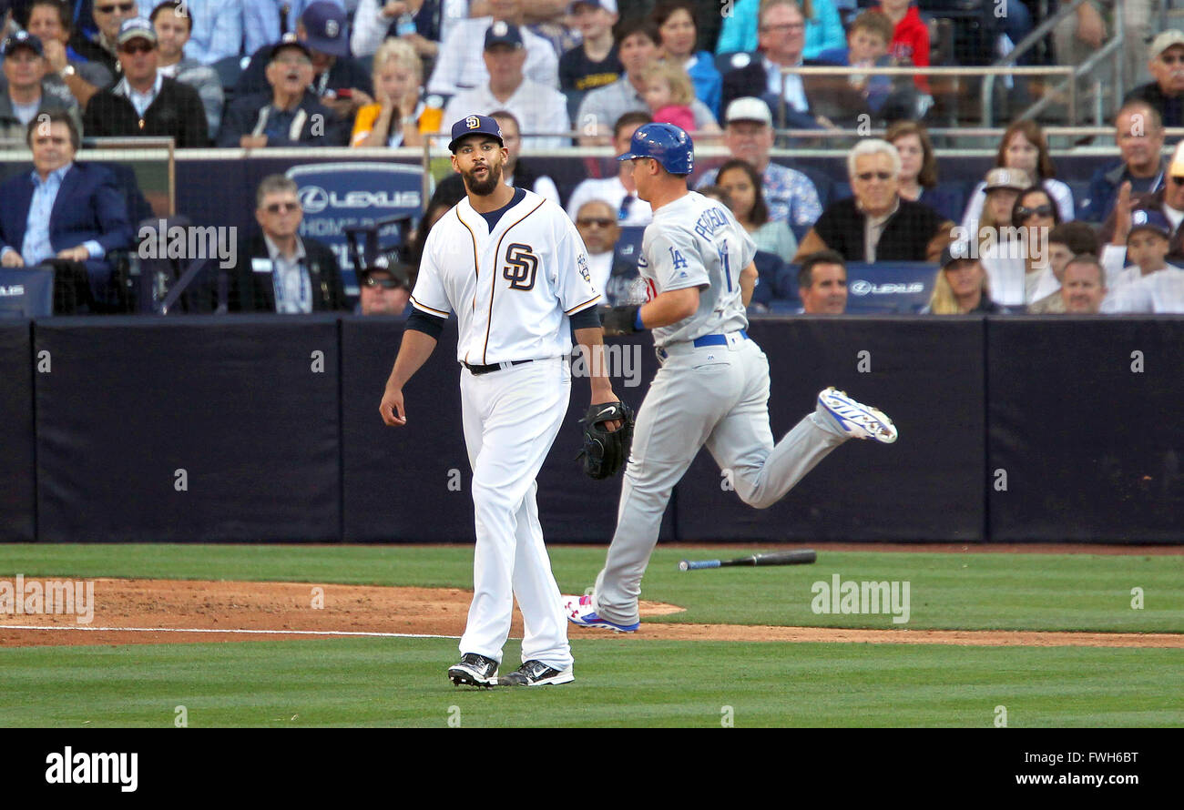 San Diego, CA, USA. 4th Apr, 2016. SAN DIEGO_ The San Diego Padres opened their season at Petco Park with their - Stock Image
