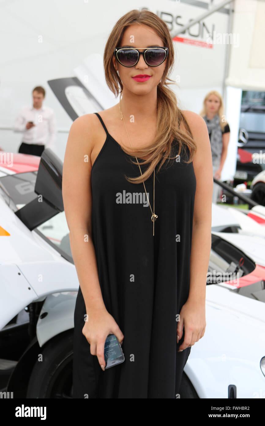 Darlington, UK. 12th June, 2016. Vicky Pattison during The Dreamcar Event, Croft Circuit, Darlington, England, U.K. - Stock Image