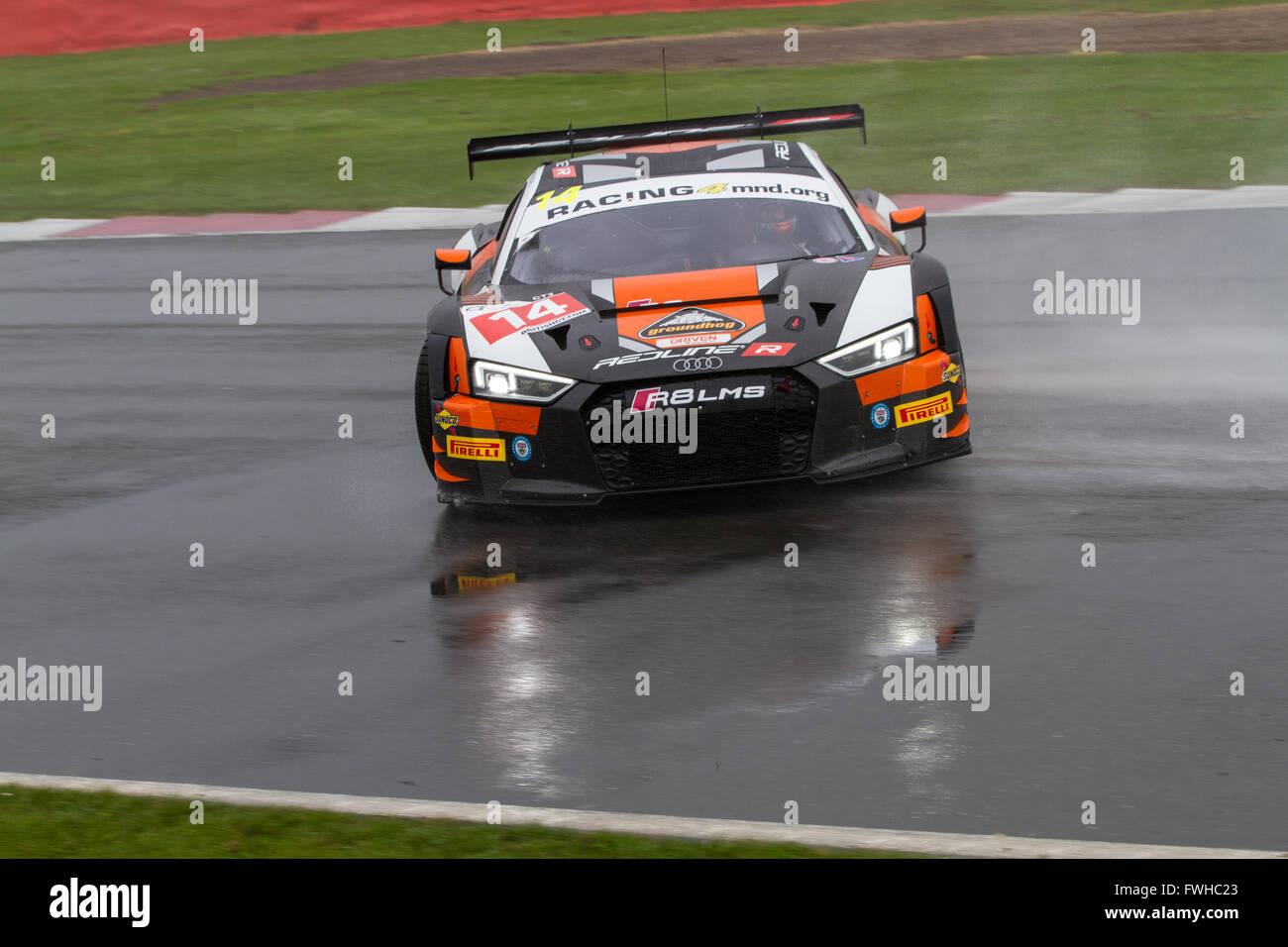 Silverstone, UK. 12th June, 2016. The #14 Optimum Motorsport Audi R8 ...
